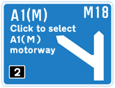 M18 Junction 2 - A1(M) Link